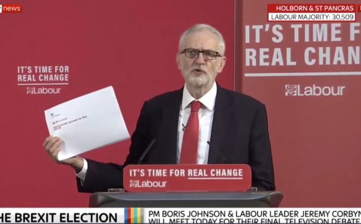 Corbyn in razkriti dokument
