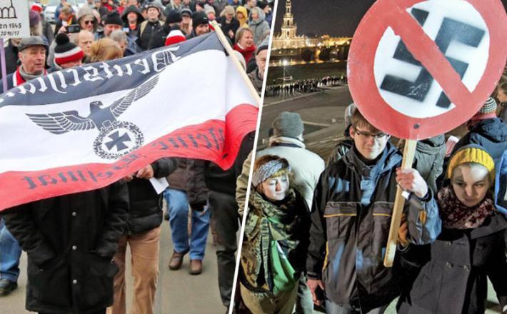 Neonacisti in njihovi nasprotniki v Dresdnu