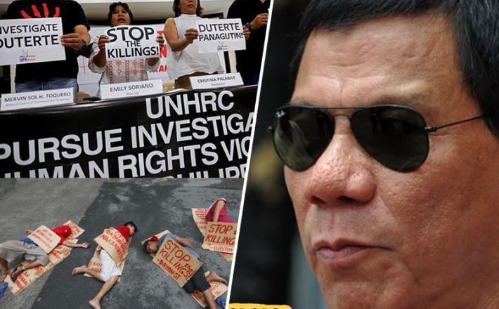 Rodrigo Duterte, predsednik Filipinov in protestniki