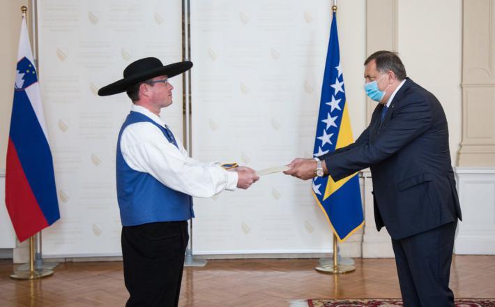 Dodik in novi slovenski veleposlanik