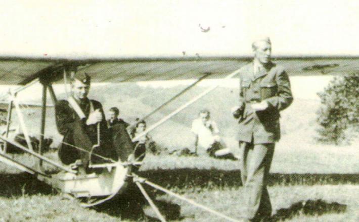 Letalo Vrabec in Edvard Lorencon