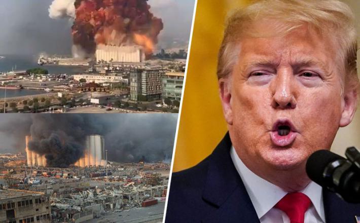 Eksplozija v Bejrutu - Donald Trump sproža ugibanja