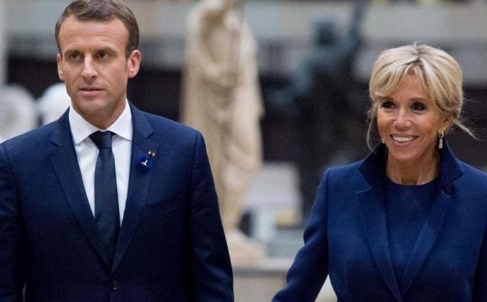 Emmanuel Macron in Brigitte Macron