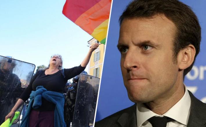 Emmanuel Macron, protesti