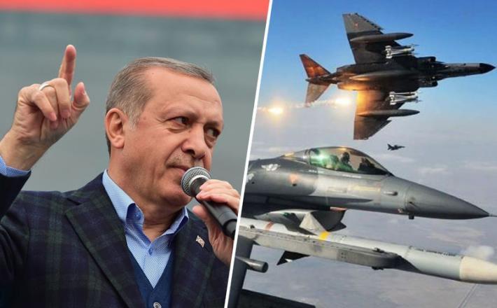 Erdogan in lovci F-16 turške vojske