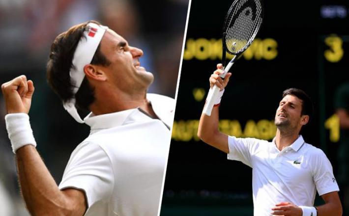 Federer in Đoković