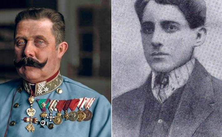 Franc Ferdinand in Gavrilo Princip