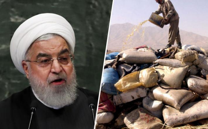 Hassan Rouhani, droge