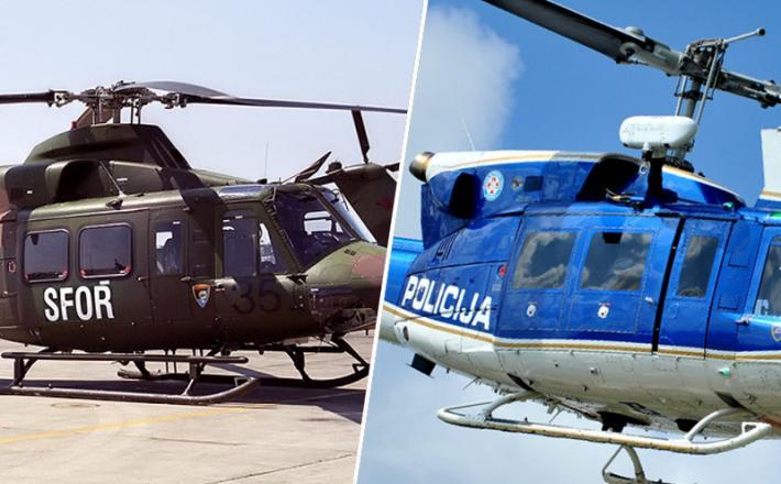 Helikopter, vojska, policija