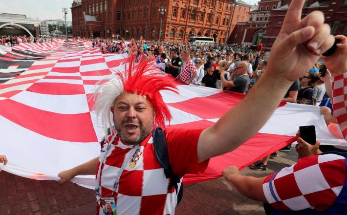 Hrvaški nogometni navijači - Zagreb Vir:Pixell