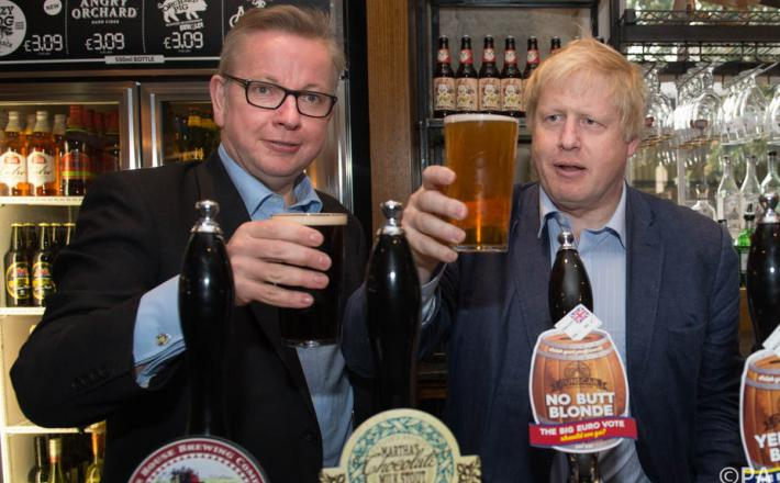 Michael Gove in Boris Johnson   Vir:The Conversation, PA