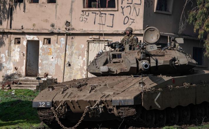 Izraelski tank na Golanski planoti                    Vir:Pixsell