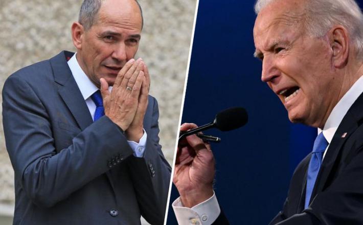 Janez Janša in Joe Biden