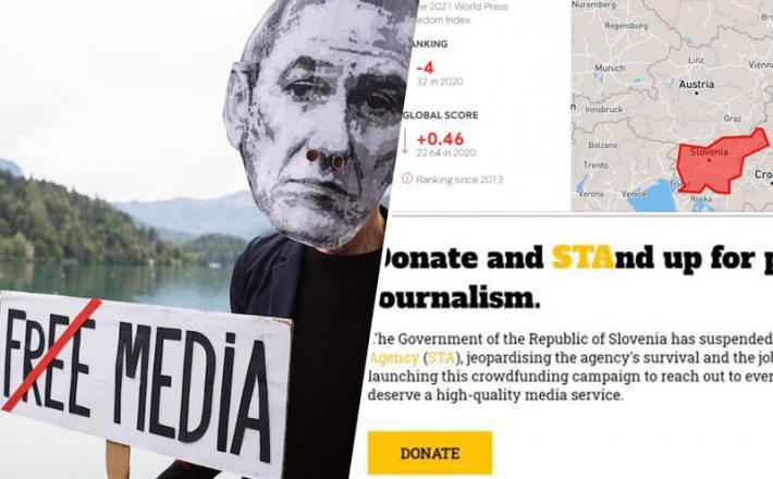 Politika Janševe vlade znova ogroža svobodo medijev