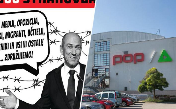 Janša s pomočjo mednarodnih prijateljev načrtuje blitzkrieg in končno rešitev problema s POP TV