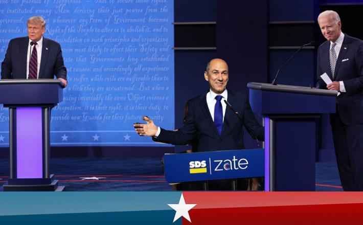 Trump, Biden in Janša
