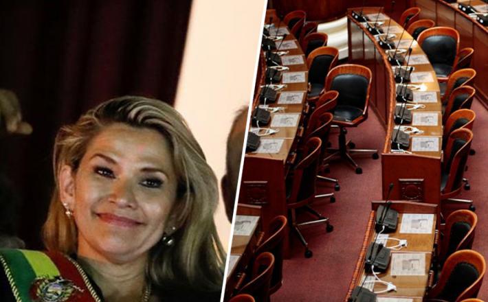Jeanine Anez, začasna predsednica Bolivije in kongres brez kvoruma