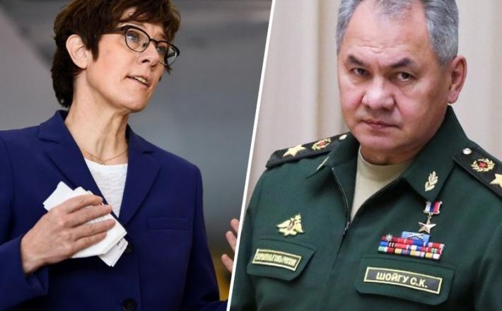 Nemška obrambna ministrica in ruski obrambni minister