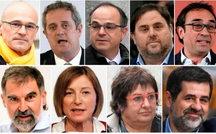Obsojeni separatisti v Kataloniji