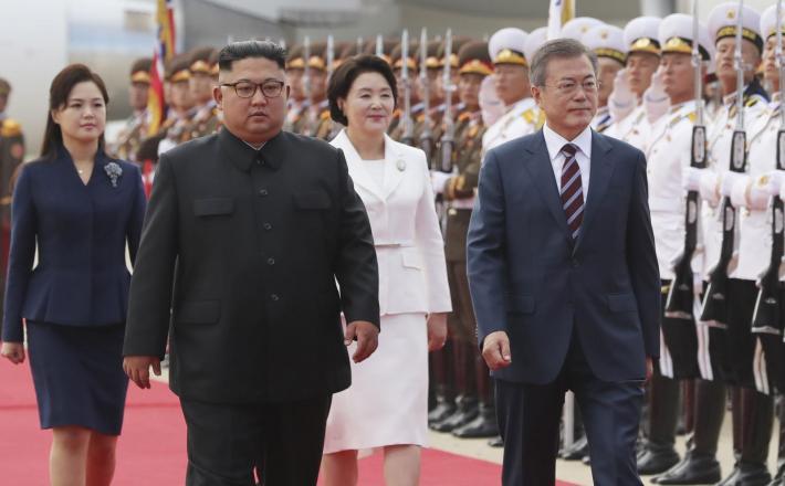 Južnokorejski in severnokorejski predsednik Vir:Pixell