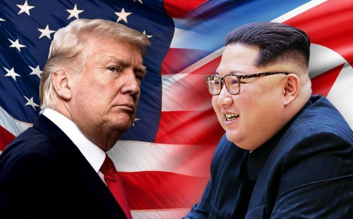 Donald Trump in Kim Jong-un