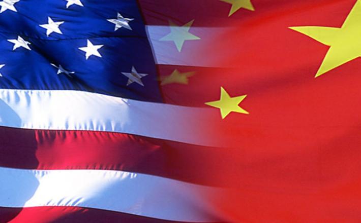 Kitajska in ameriška zastava
