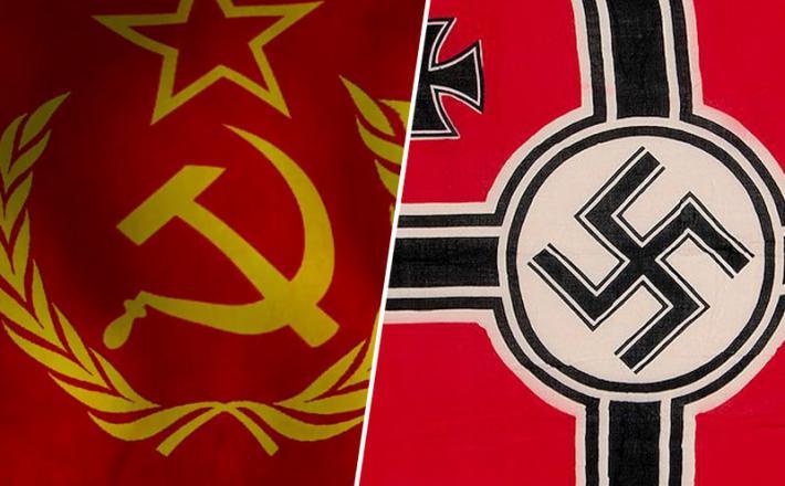 Komunistična in nacistična zastava