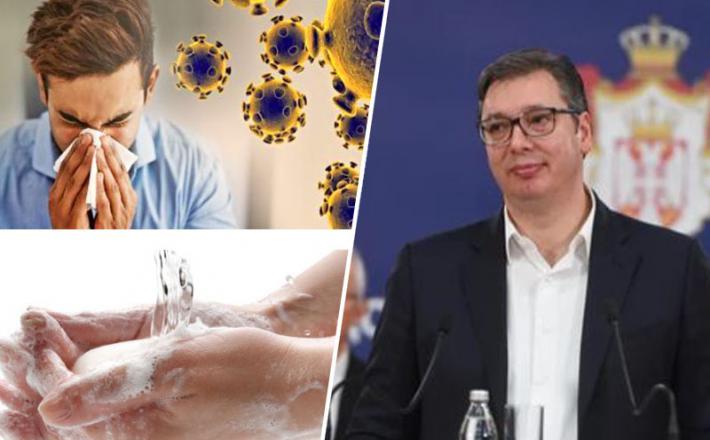 Predsednika Srbije ni strah koronavirusa