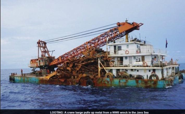 Ladja z železom - kitajska