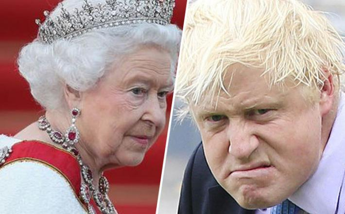 Kraljica Elizabeta II in Boris Johnson