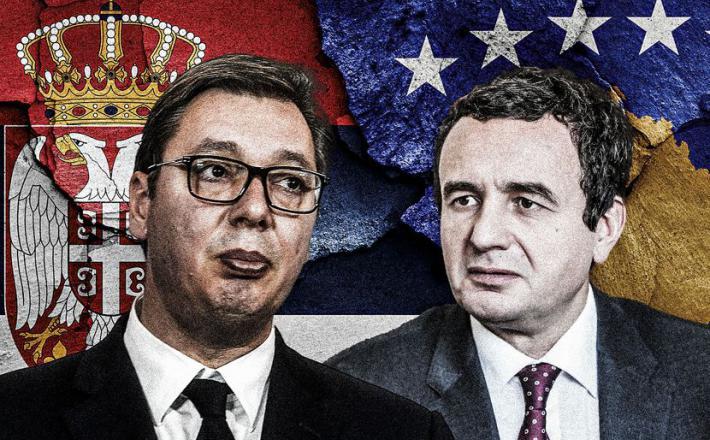 Vučić in Kurti  Vir: Kurir, Twitter