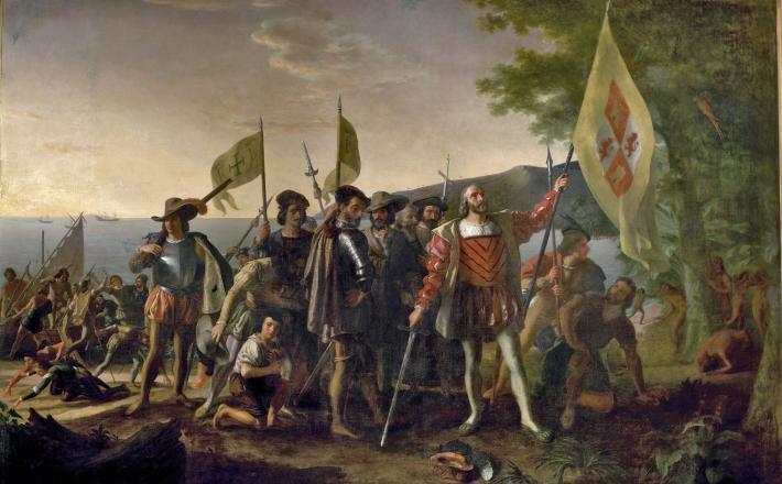 Prihod Kolumba   Vir: John Vanderlyn/Wikimedia Commons/Public Domain