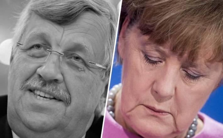 Lubcke - žrtev in Angela Merkel