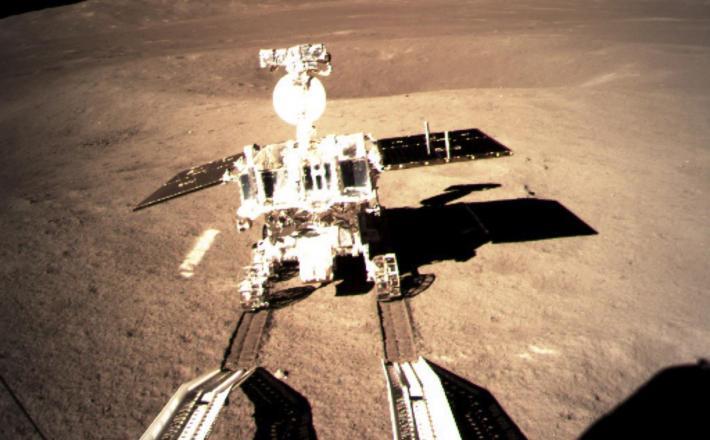 Pristanek na Luni - kitajsko vozilo Vir:CCTV