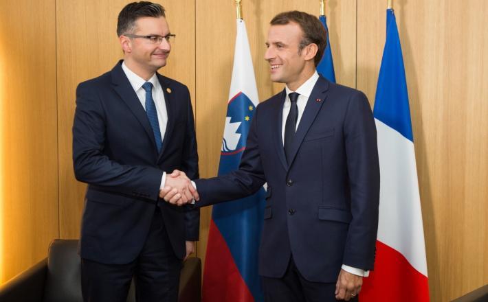Šarec in Macron Vir:Pixell