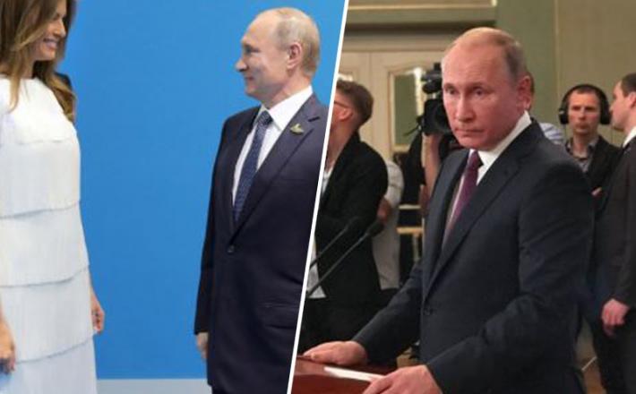 Melania in Putin