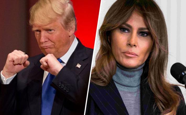 Melania in Trump - borec