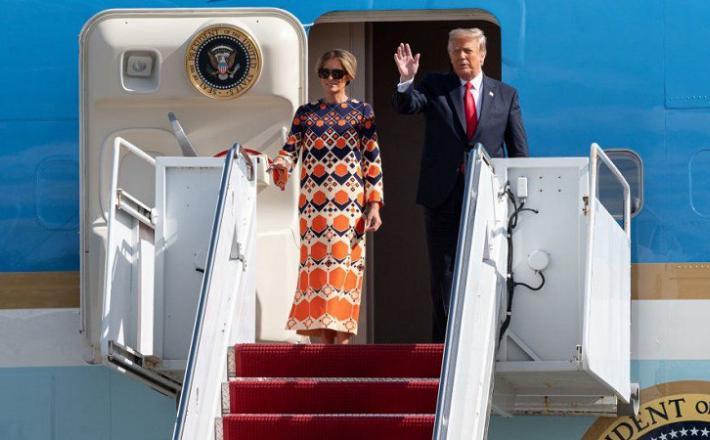 Melania in Donald na zadnji poti  Vir: Twitter