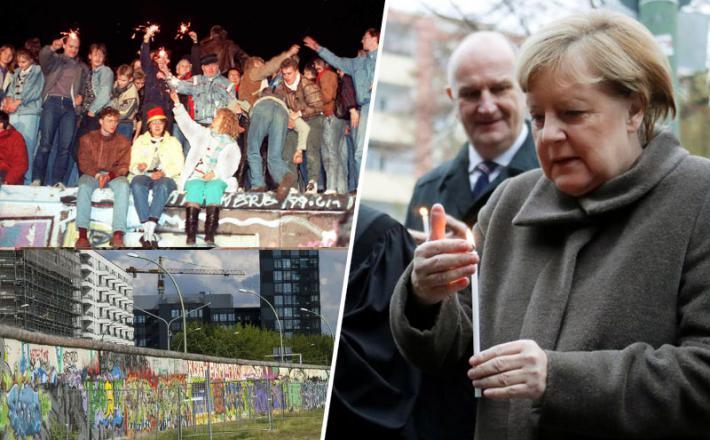 Berlinski zid in Angela Merkel
