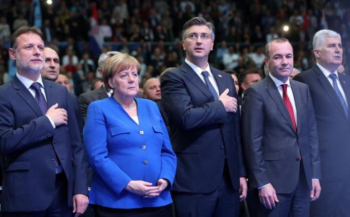 Angela merkel in Plenković  Vir:Index.hr