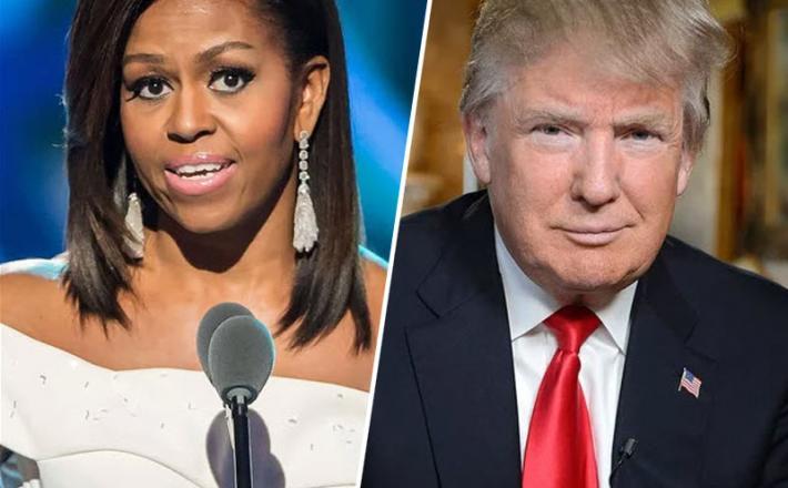 Michelle Obama in Donald Trump