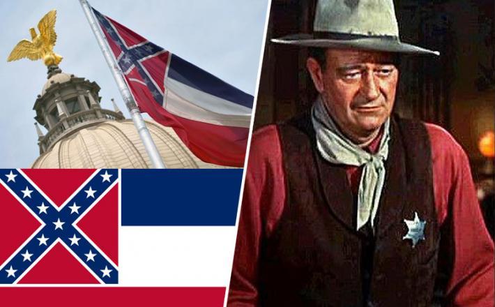 Zastava Mississipija in John Wayne