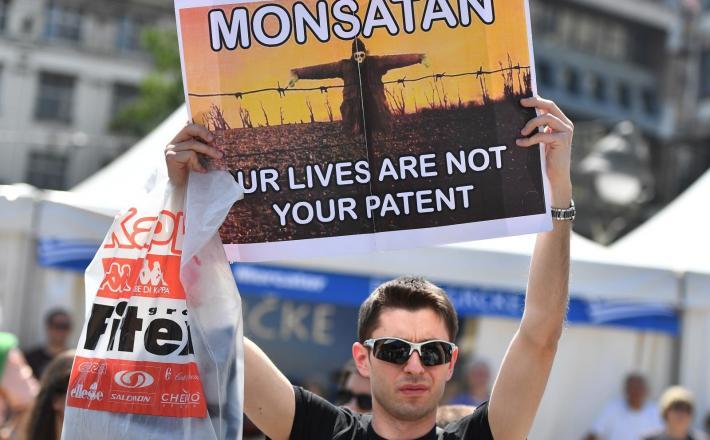 Maj 2018 - protesti proti Monsantu v Beogradu Vir: Pixell
