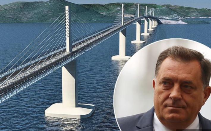 Milorad Dodik - most na Pelješac   Vir:Jutarnji List