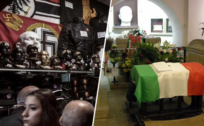 Mussolini - grobnica in spominki