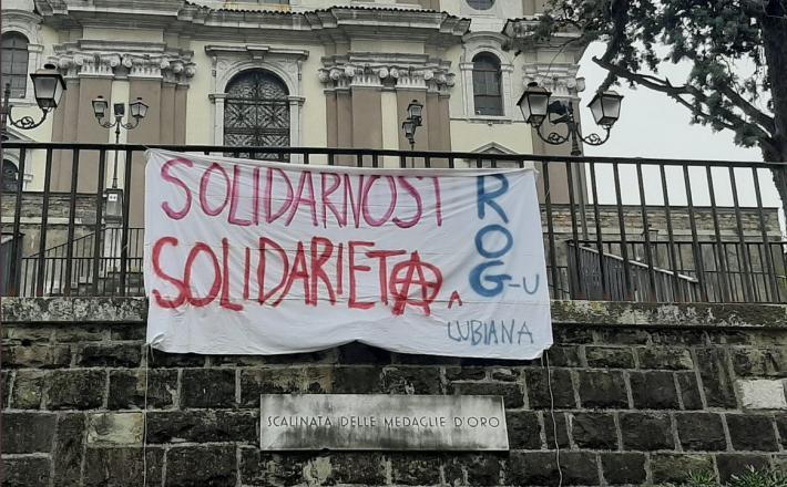 Sporočilo podpore in solidarnosti iz Italije. Vir: Twitter