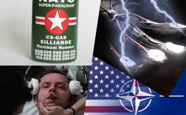 Nicholson demonstrira Nato na elektrošokih