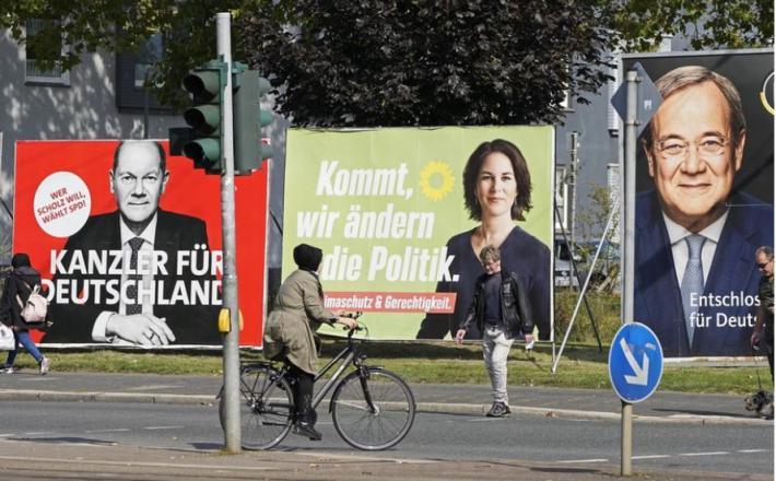 Nemčija, volitve 2021  Vir: Twitter, RT