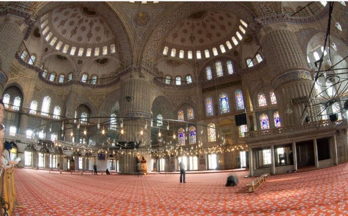 Mošeja - notranjost