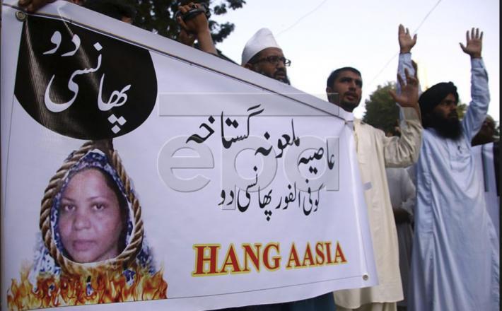 Obesite Asio Bibi - drhal v Pakistanu